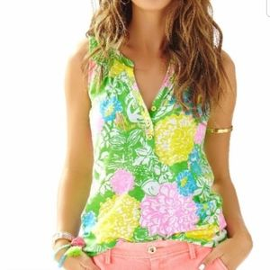 Lilly Pulitzer Essie Hibiscus Stroll Printed Tank
